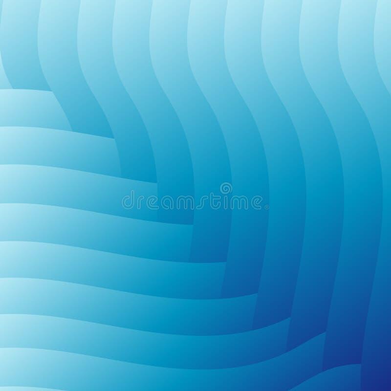 Fondo blu-chiaro astratto delle onde royalty illustrazione gratis