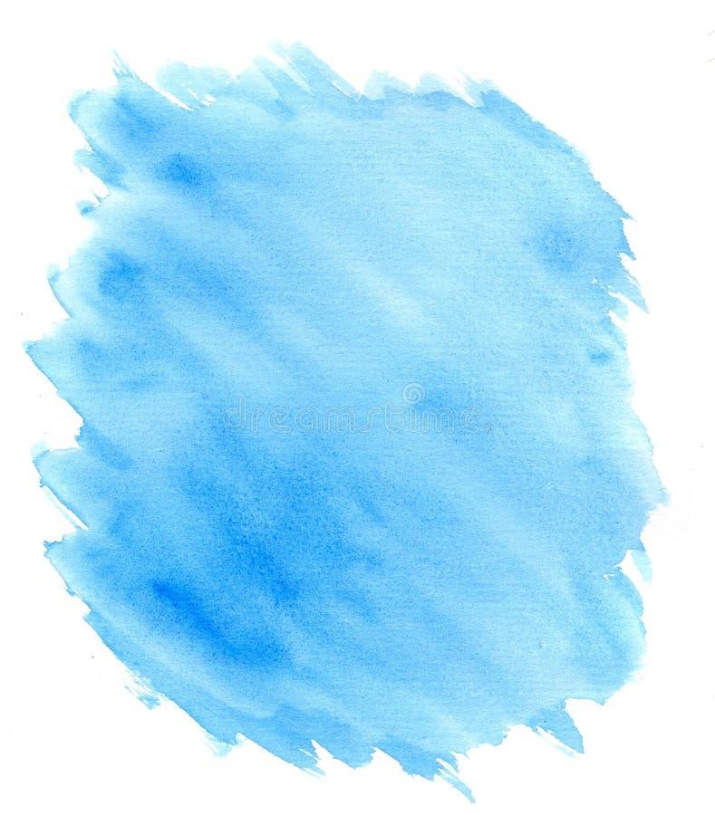 Fondo blu-chiaro dell'acquerello su bianco royalty illustrazione gratis