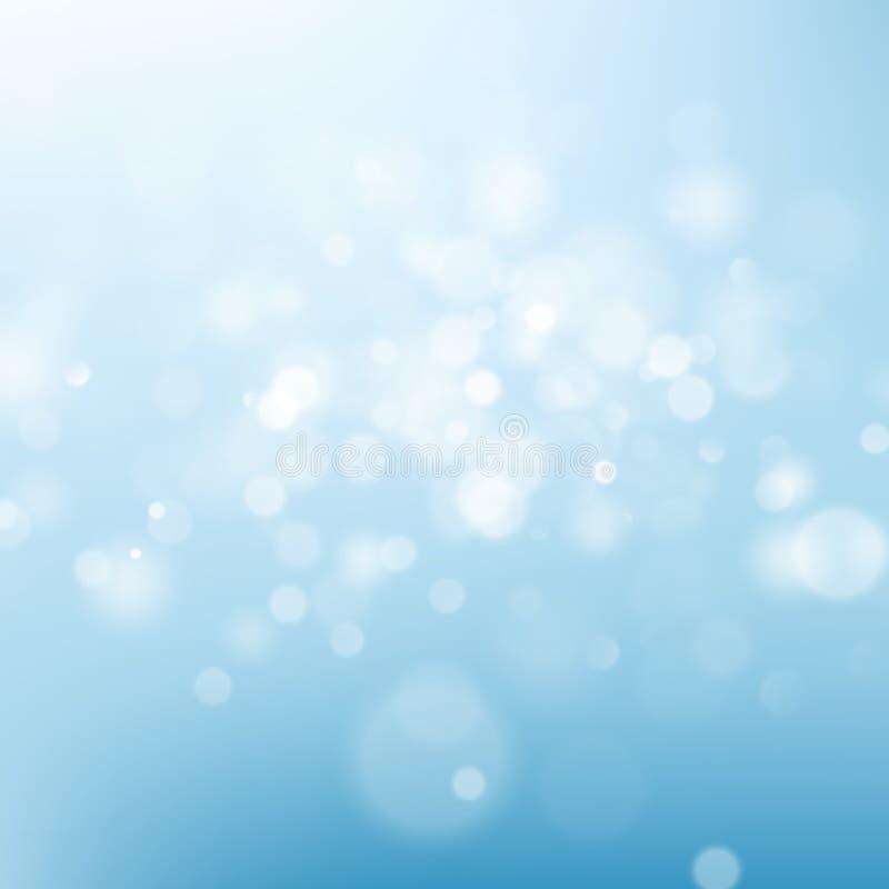 Fondo blu-chiaro dell'estratto del cielo Modello defocused di effetto della luce del bokeh della sfuocatura della natura ENV 10 illustrazione vettoriale