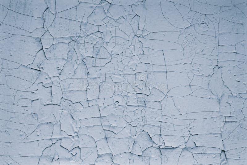 Struttura Di Vecchia Pittura Grigia Incrinata Sul Muro Di