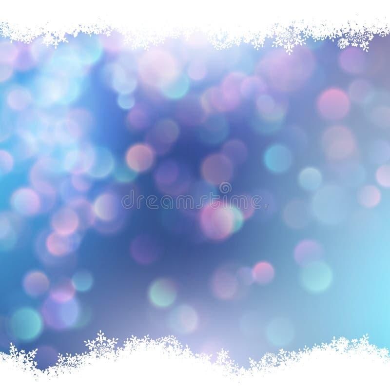 Fondo blu con i fiocchi di neve ENV 10 royalty illustrazione gratis