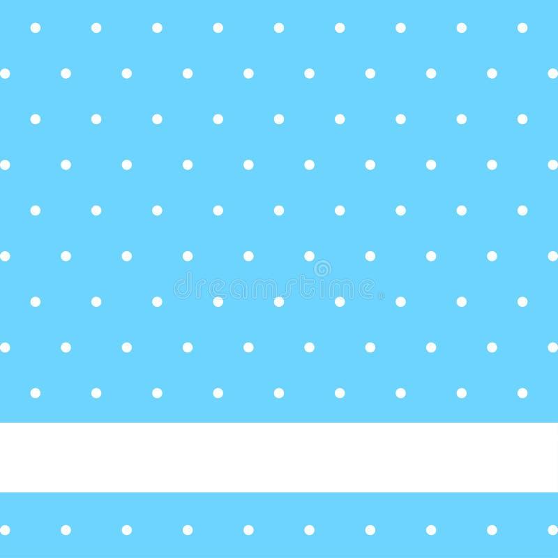 Fondo blu con i punti bianchi sul vettore illustrazione vettoriale