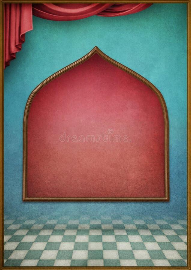 Fondo blu con la finestra illustrazione vettoriale