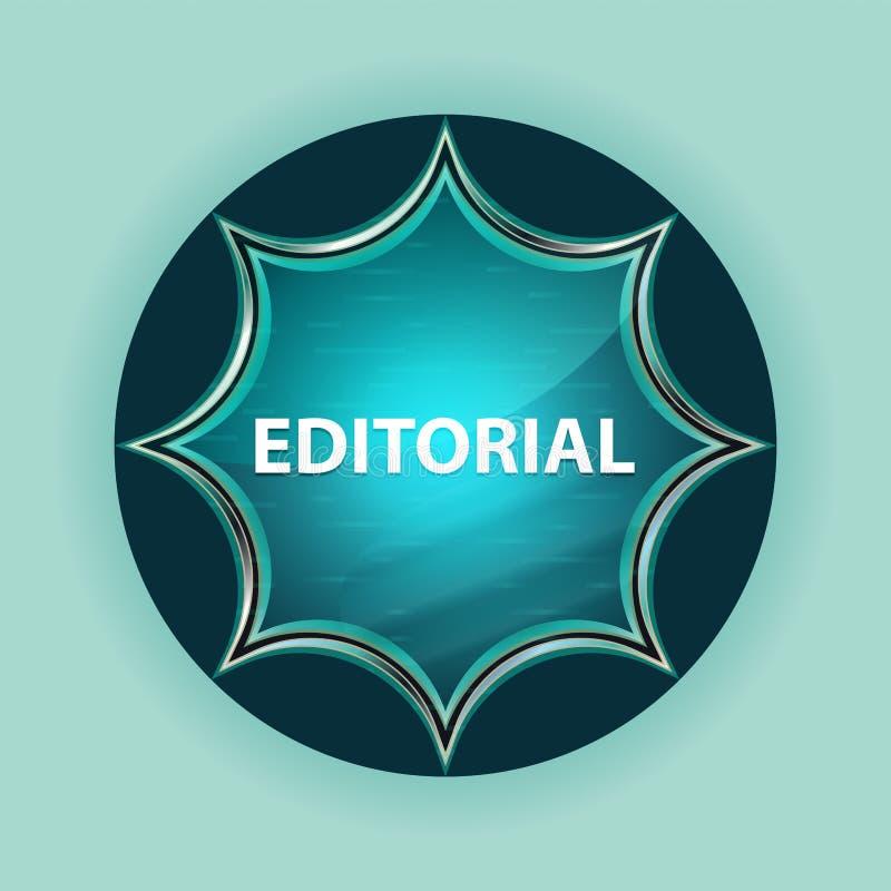 Fondo blu degli azzurri del bottone dello sprazzo di sole vetroso magico editoriale royalty illustrazione gratis