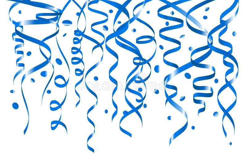 Fondo blu dei coriandoli Reticolo orizzontale senza giunte Stagnola metallica royalty illustrazione gratis
