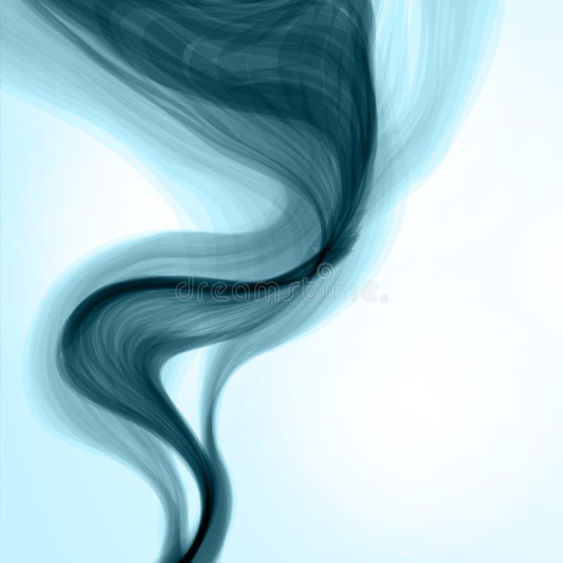 Fondo blu del fumo. illustrazione di stock