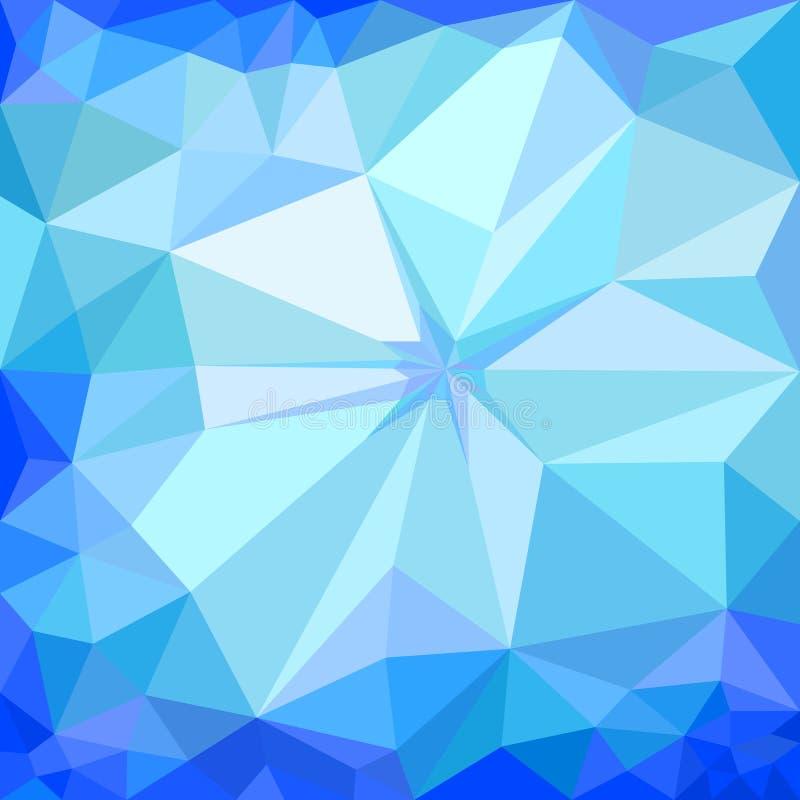 Fondo blu del ghiaccio di inverno illustrazione vettoriale