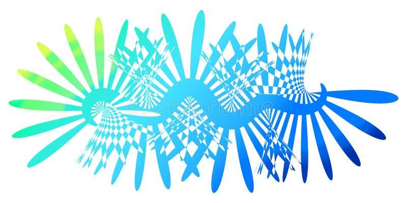 Fondo blu del manifesto della carta da parati dei raggi luminosi royalty illustrazione gratis
