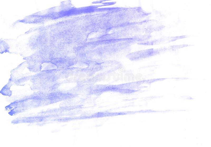 Fondo blu dell'acquerello astratto, carta dell'illustrazione del quadro televisivo illustrazione di stock