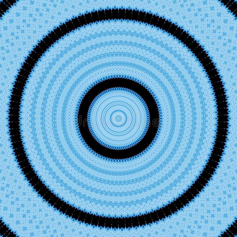 Fondo blu dell'estratto del caleidoscopio del modello yoga royalty illustrazione gratis