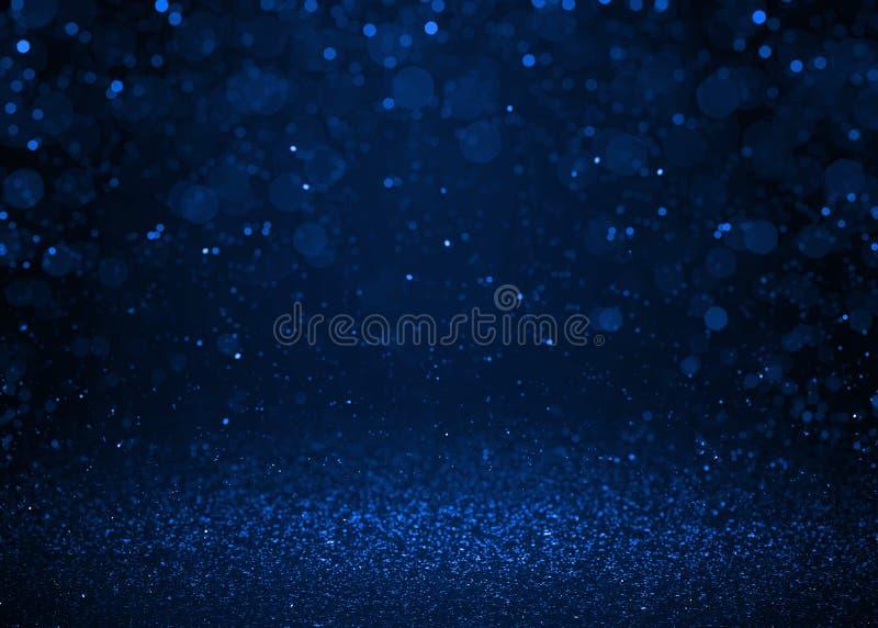 Fondo blu dell'estratto di scintillio della scintilla immagine stock