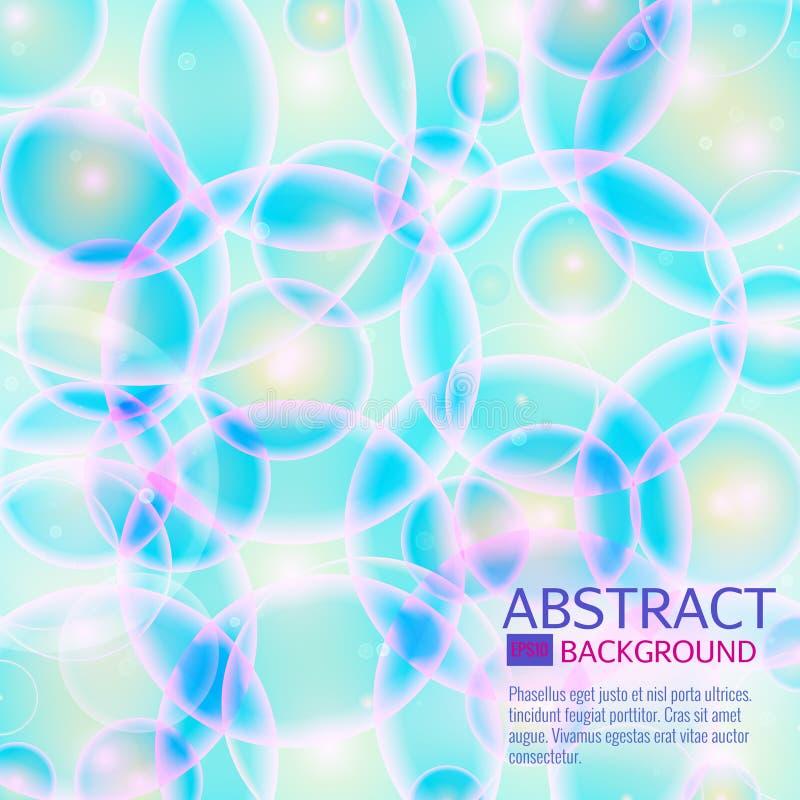 Fondo blu delle cellule Vita e biologia, medicina scientifica, DNA molecolare di ricerca Illustrazione di vettore illustrazione vettoriale
