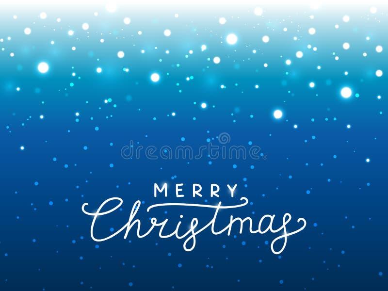 Fondo blu delle luci di Natale per la vostra progettazione illustrazione vettoriale