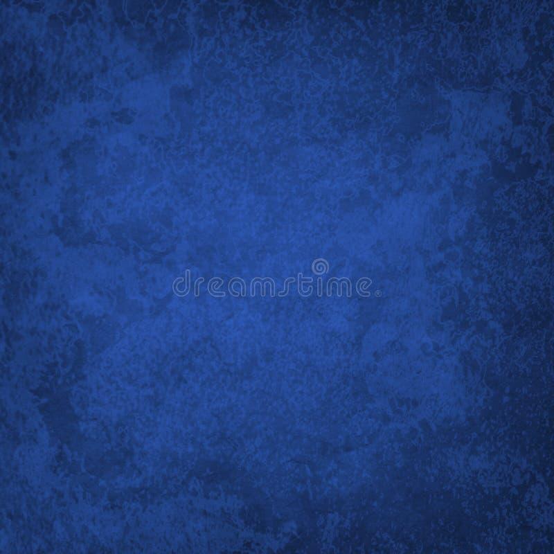 Fondo blu dello zaffiro scuro elegante con vecchi struttura e lerciume marmorizzati d'annata fotografie stock libere da diritti