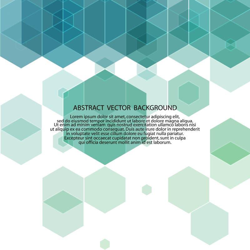 Fondo blu di esagono llustration astratto ENV 10 di vectori illustrazione vettoriale