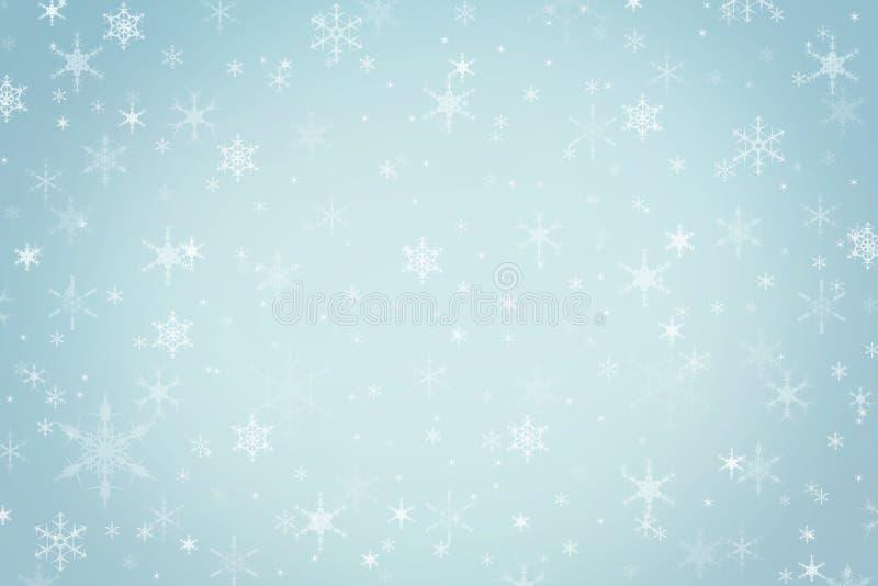 Fondo blu di inverno di Natale dell'alzavola pastello astratta fotografie stock