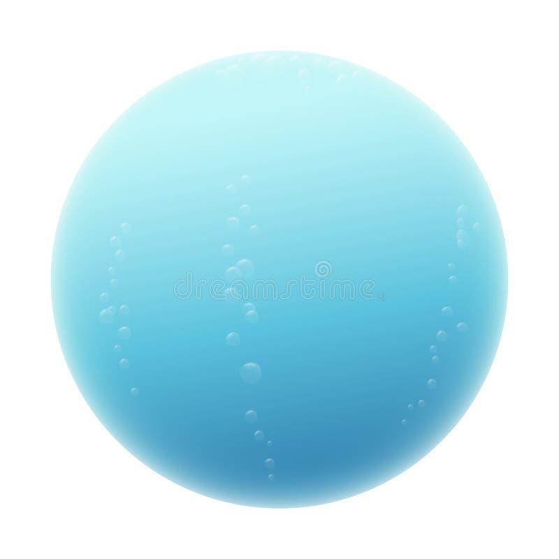 Fondo blu di Misty Ball Isolated On White della sfera dell'acqua illustrazione vettoriale