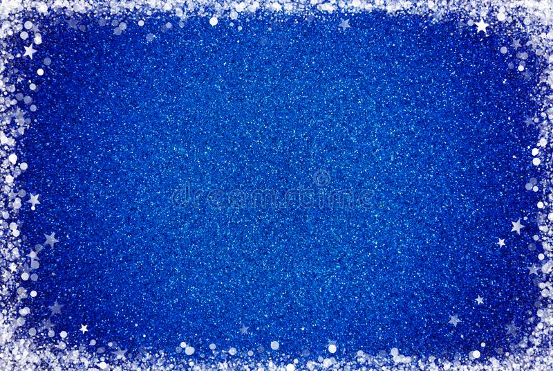 Fondo blu di scintillio con un confine bianco fotografia stock libera da diritti