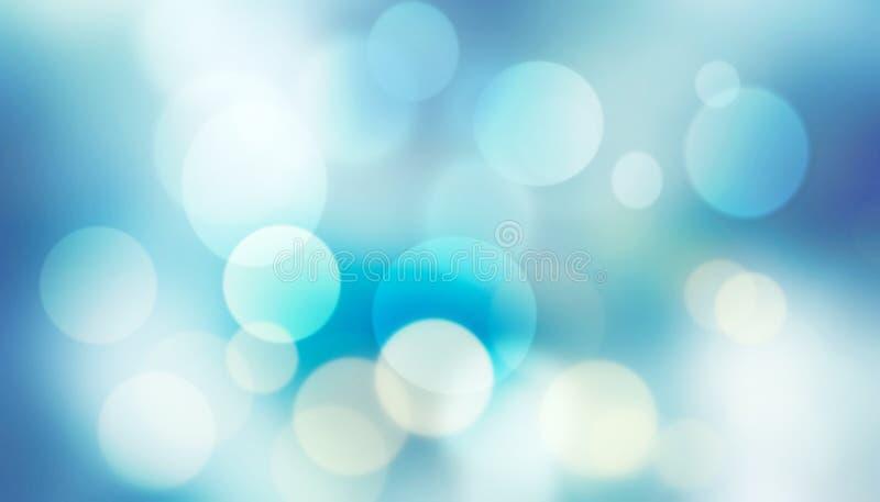 Fondo blu di struttura della sfuocatura variopinta astratta con bianco ed il bl immagini stock libere da diritti