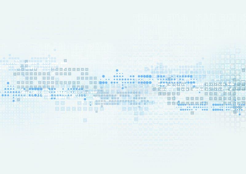 Fondo blu di tecnologia luminosa con geometrico illustrazione vettoriale