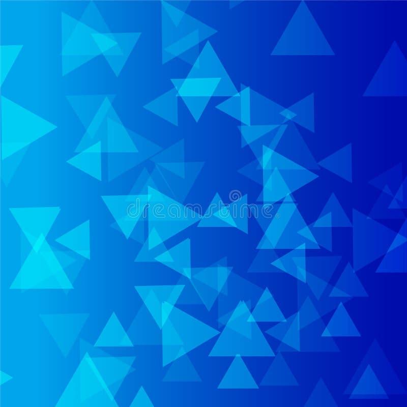 Fondo blu di vettore del triangolo fotografia stock