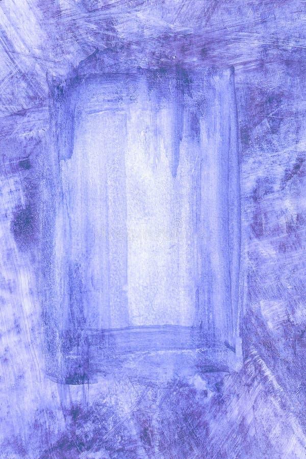 Fondo blu disegnato a mano astratto dell'acquerello, illustrazione del quadro televisivo illustrazione vettoriale
