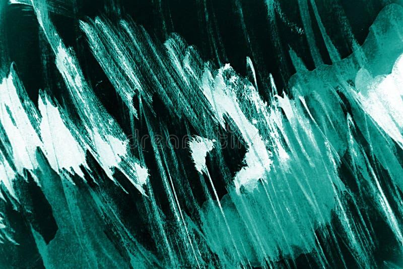 Fondo blu e bianco dei colpi del pennello illustrazione vettoriale