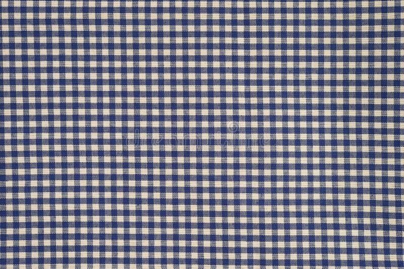 Fondo blu e bianco del panno del percalle immagini stock
