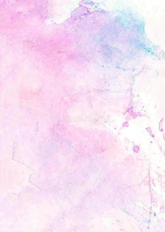 Fondo blu e porpora dell'acquerello astratto, automobile dell'illustrazione del quadro televisivo illustrazione vettoriale