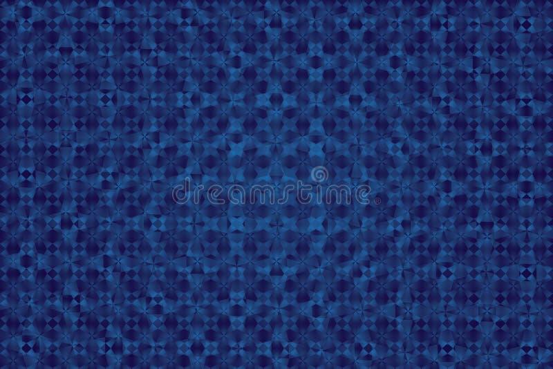 Fondo blu e struttura del modello geometrico astratto illustrazione vettoriale