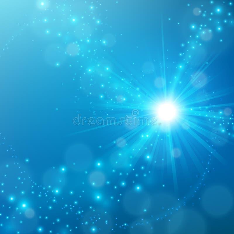 Fondo blu elegante astratto di lustro royalty illustrazione gratis