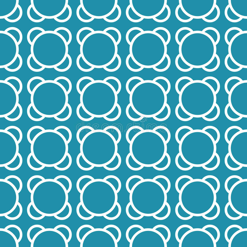 Fondo blu geometrico astratto del modello dell'ornamento di arte di deco illustrazione vettoriale