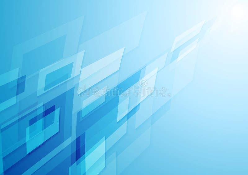 Fondo blu luminoso dell'estratto di ciao-tecnologia illustrazione di stock