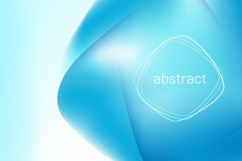 Fondo blu luminoso della maglia 3d dell'estratto Vector la disposizione di progettazione per le presentazioni di affari, le alett royalty illustrazione gratis