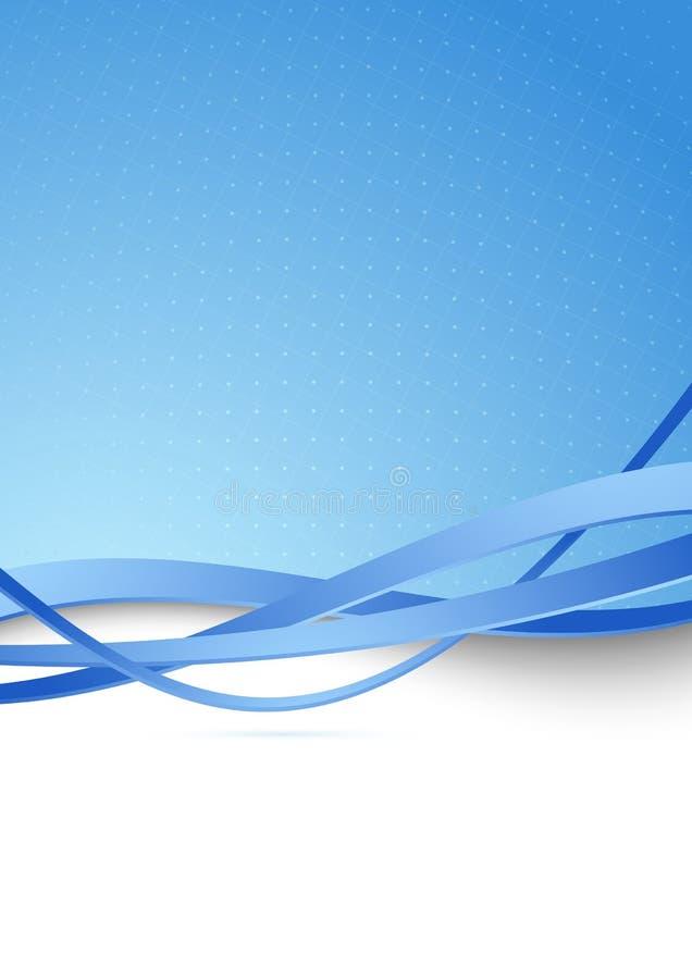 Fondo blu moderno dell'estratto di ciao-tecnologia royalty illustrazione gratis