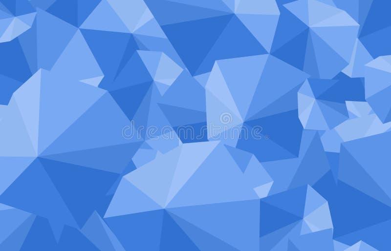 Fondo blu poligonale di arte dell'ombrello fotografia stock libera da diritti