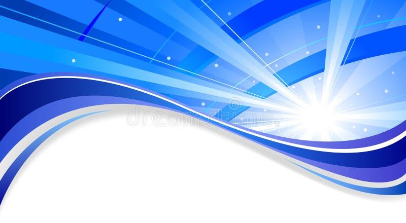 Fondo blu radiante illustrazione di stock