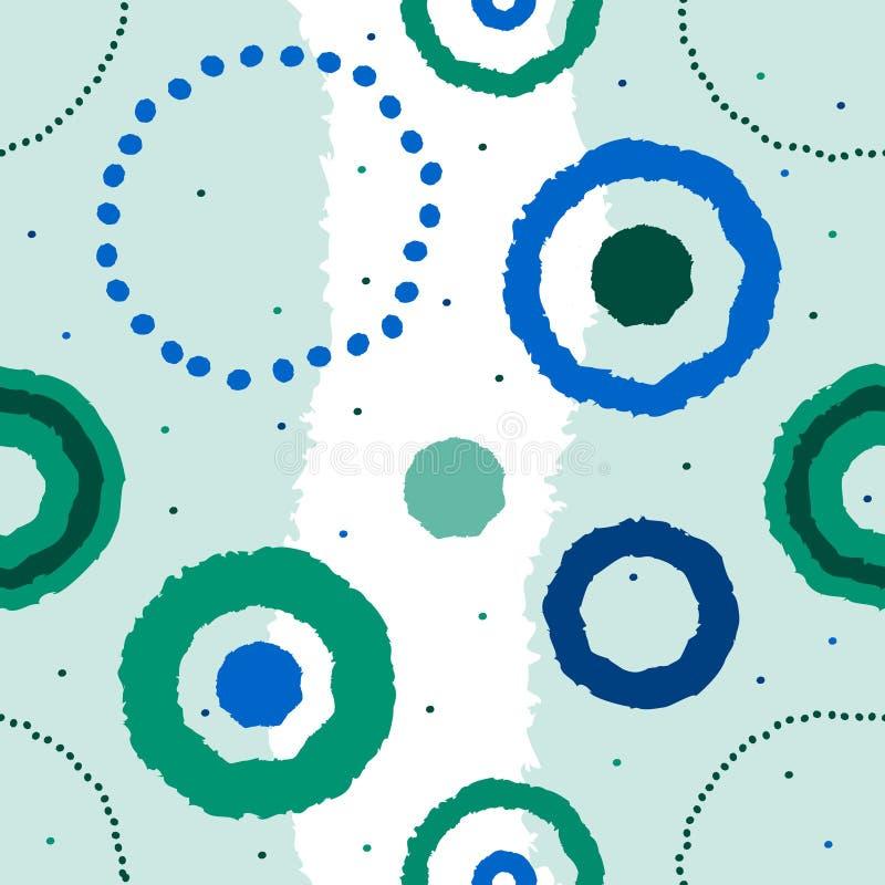 Fondo blu senza cuciture illustrazione vettoriale