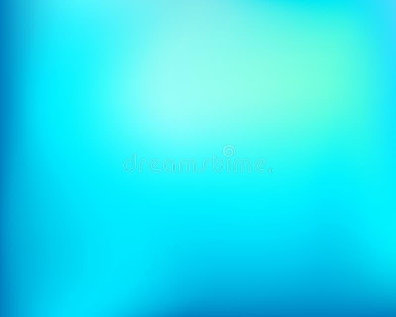 Fondo blured brillante azul claro de la pendiente del extracto ilustración del vector