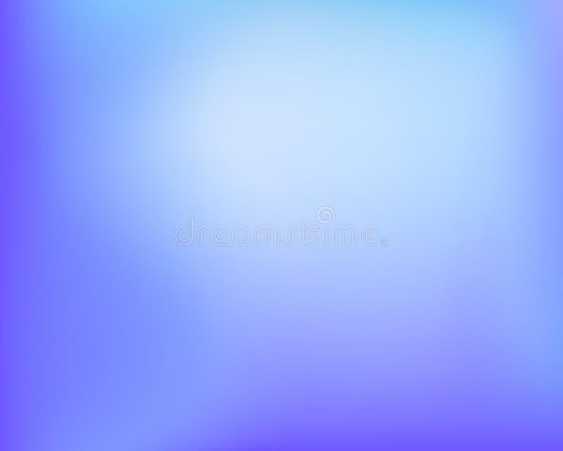 Fondo blured brillante de la pendiente de la violeta azul clara abstracta Llustration del vector libre illustration