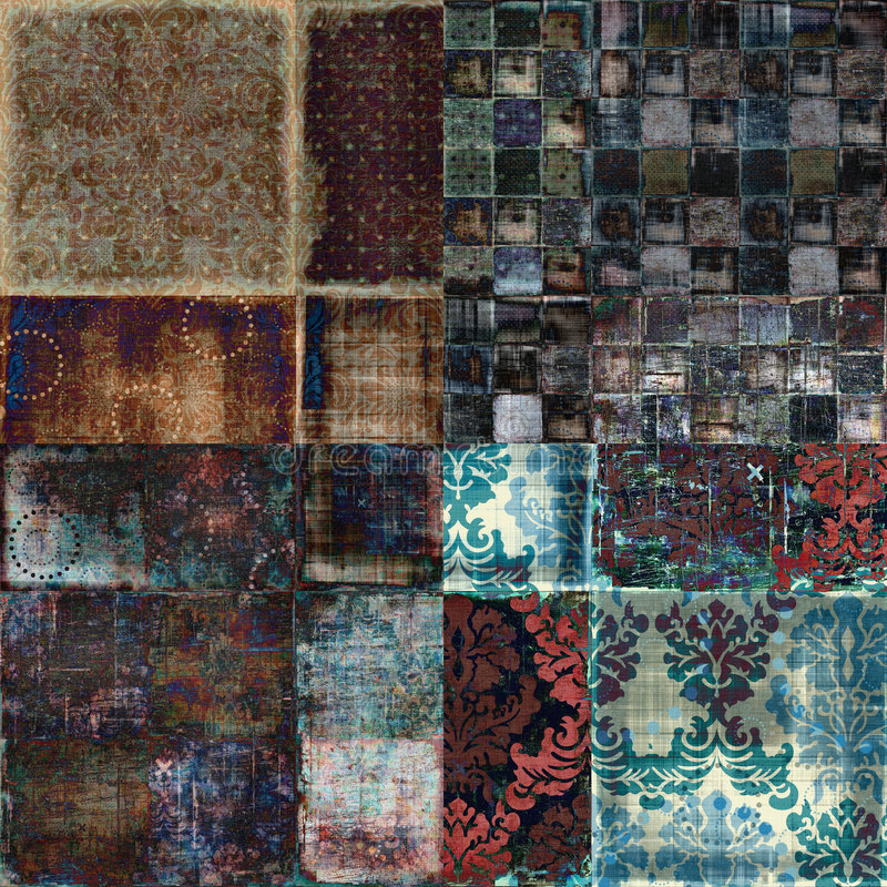 Fondo bohemio floral del libro de recuerdos de la tapicería de Grunge de la vendimia foto de archivo libre de regalías