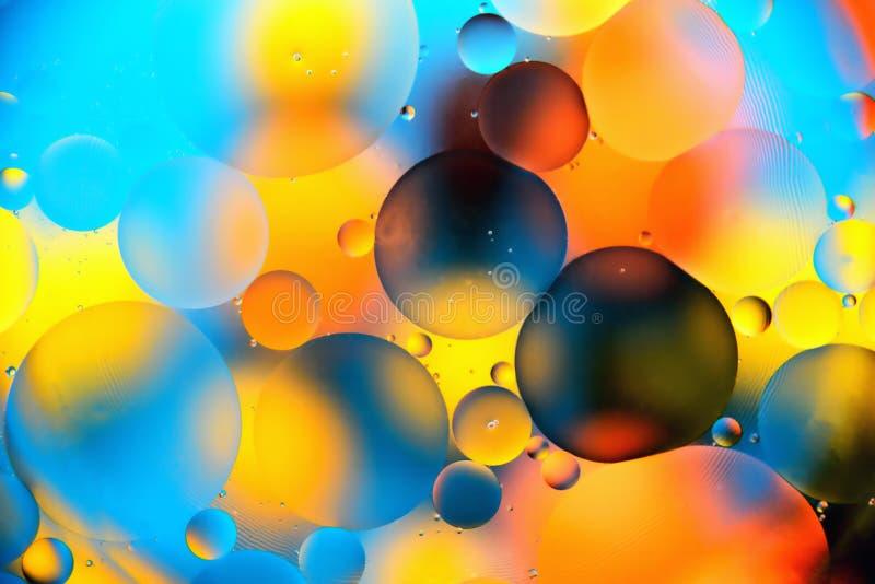 Fondo, bolas multicoloras, falta de definición ilustración del vector