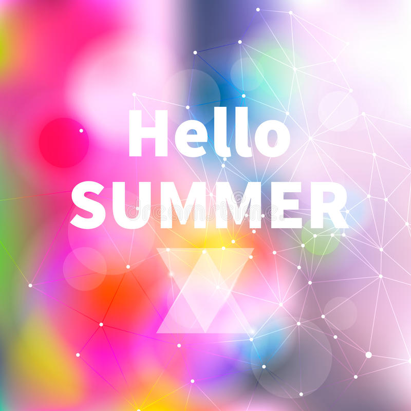 Fondo borroso abstracto brillante del verano, vector imagen de archivo libre de regalías
