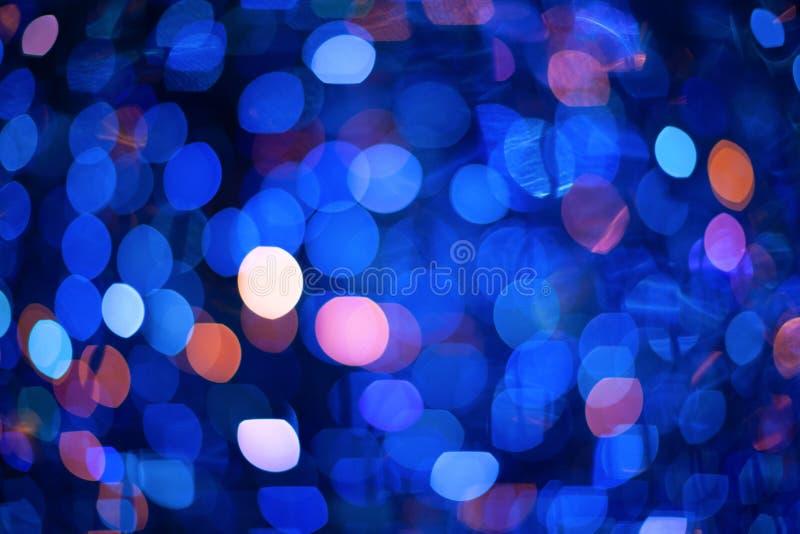 Fondo borroso abstracto con el bokeh festivo brillante colorido numeroso Textura con el espacio de la copia para el texto imagen de archivo libre de regalías