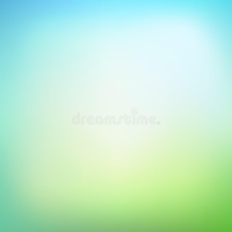 Fondo borroso abstracto de la malla de la pendiente en colores verdes Smoot libre illustration