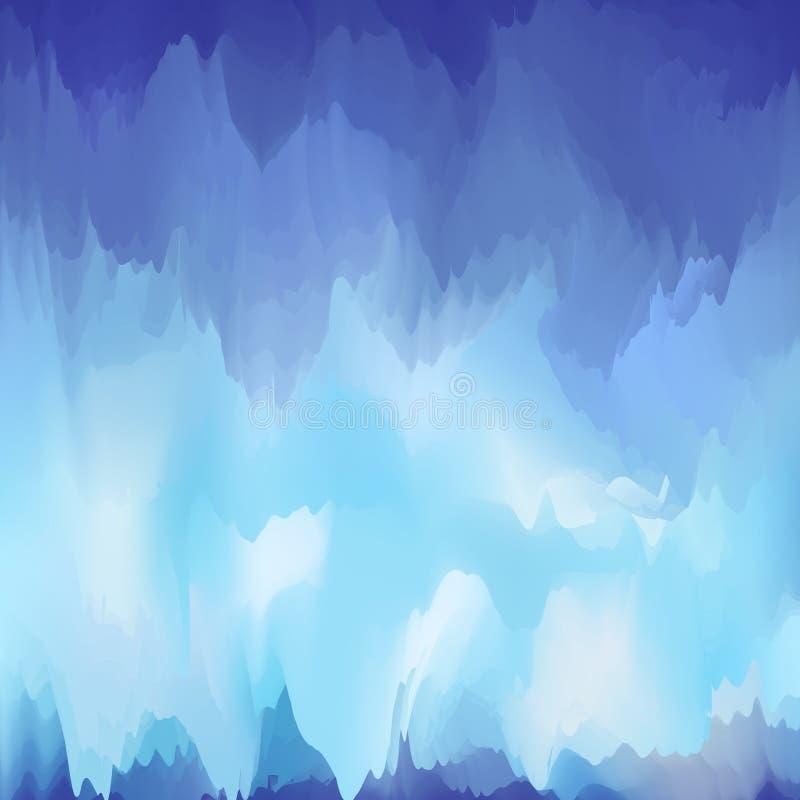 Fondo borroso abstracto de los tonos azul-violetas, azules claros ilustración del vector