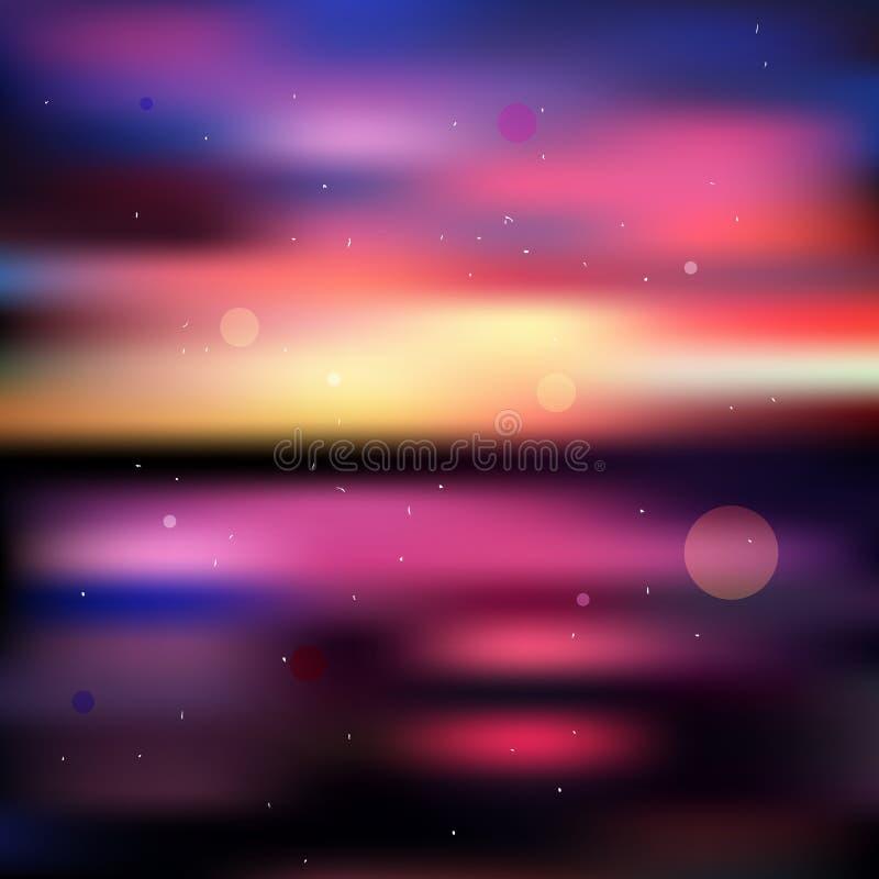Download Fondo Borroso Colorido De La Puesta Del Sol Ilustración del Vector - Ilustración de extracto, luces: 41900875