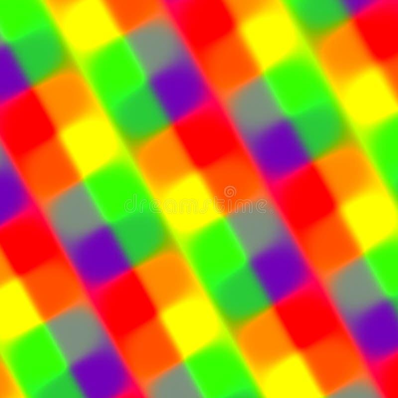 Fondo borroso colorido de los rectángulos Elemento del Web Colores rojos verdes púrpuras del amarillo anaranjado Fibra mezclada L ilustración del vector