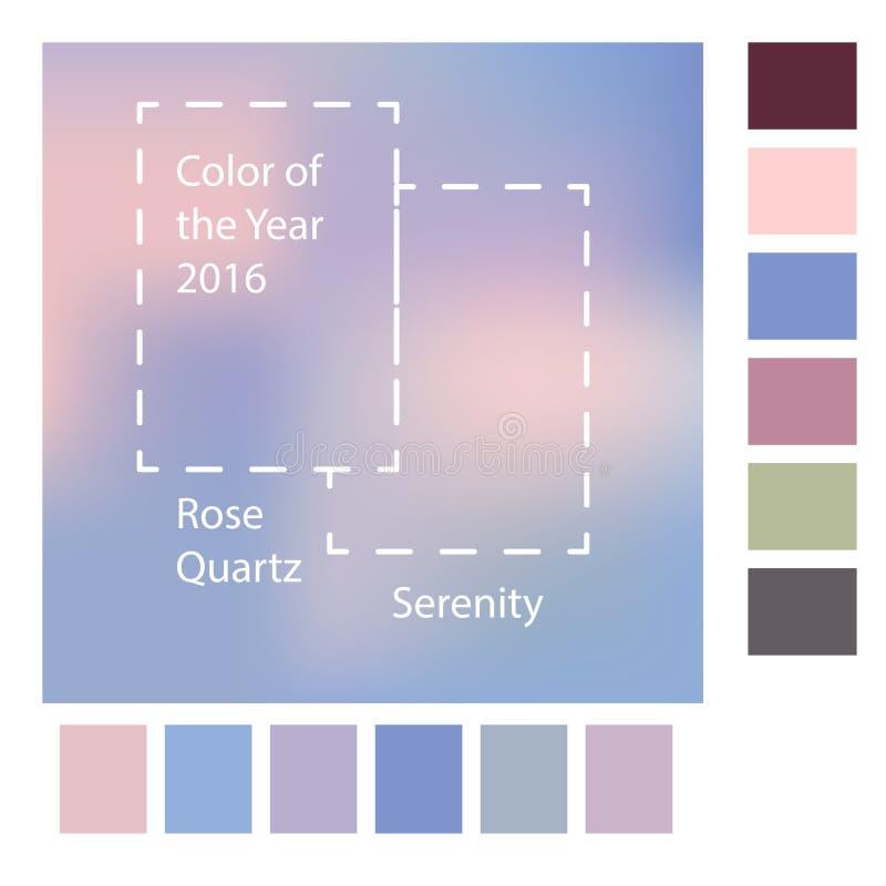 Fondo borroso con los colores de moda del año Rose Quartz 2016 y de la serenidad Ilustración del vector libre illustration