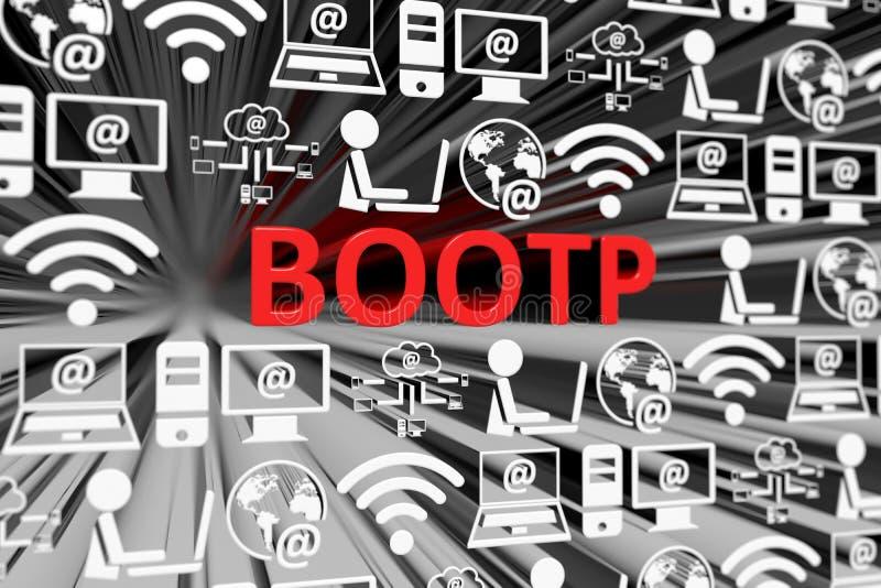 Fondo borroso concepto del BOOTP stock de ilustración